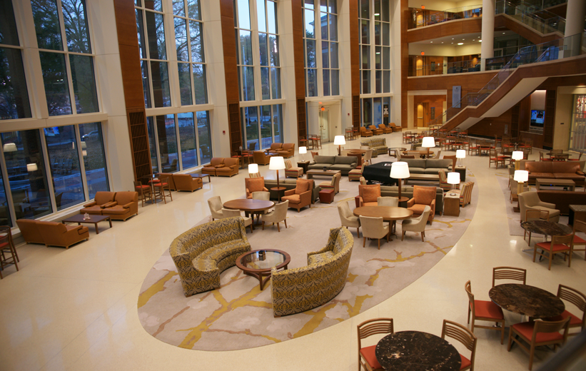 Wake Forest University Farrell Hall with terrazzo flooring
