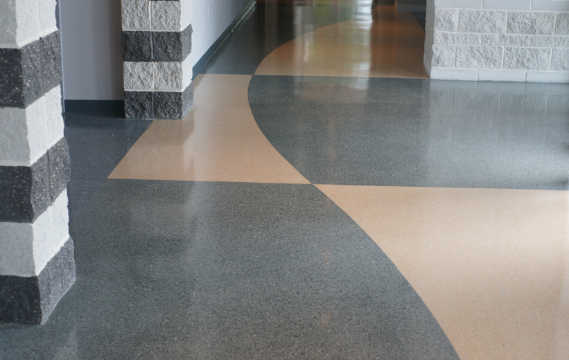 terrazzo flooring at William Bethune Center for Visual Arts in Fayetteville, North Carolina.