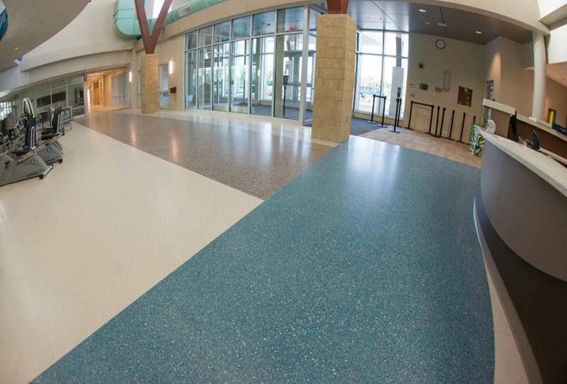 Williams Farm Recreation Center Terrazzo Flooring
