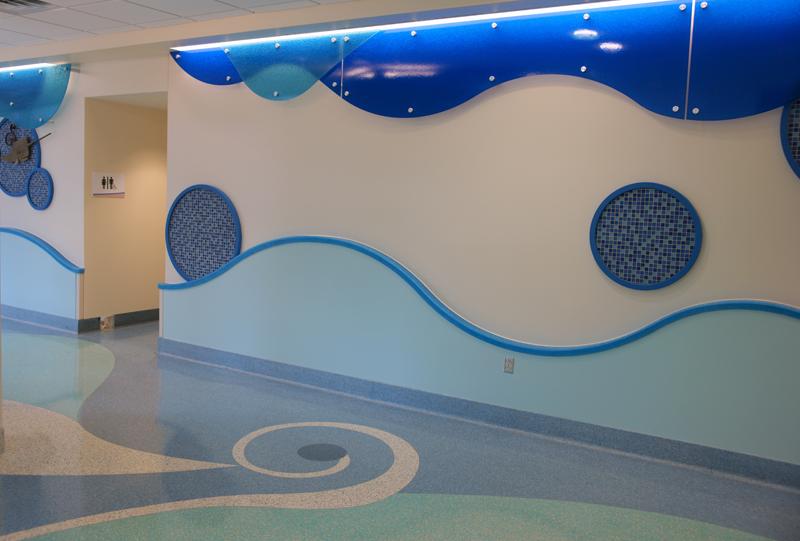 USA Women's and Children's Hospital Epoxy Terrazzo Design Installation
