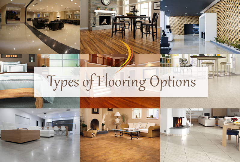 Types of Flooring Options to help decide the right flooring for you