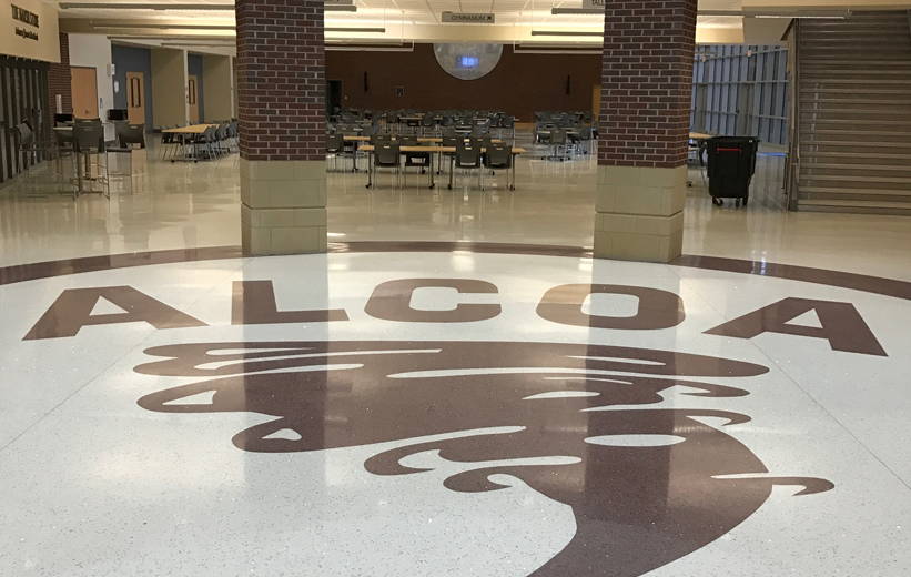 Terrazzo School logo at Alcoa High School