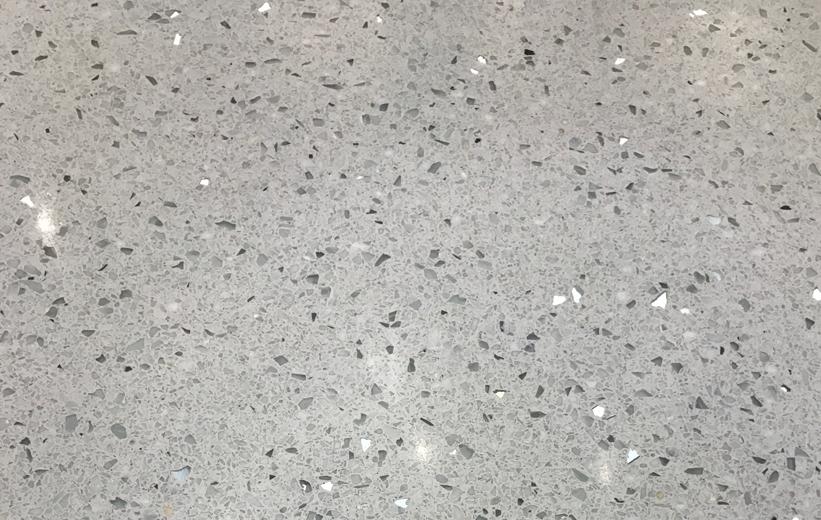 Gray terrazzo floors at Alcoa High School