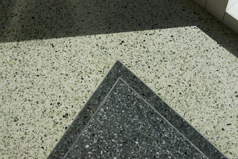 Terrazzo Flooring with Green Aggregates