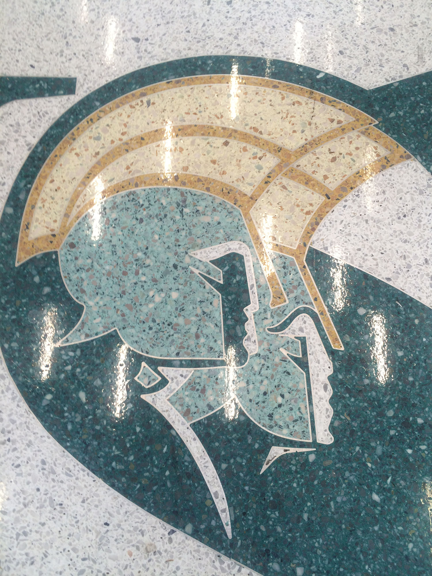 Norfolk State University - Green Terrazzo Logo