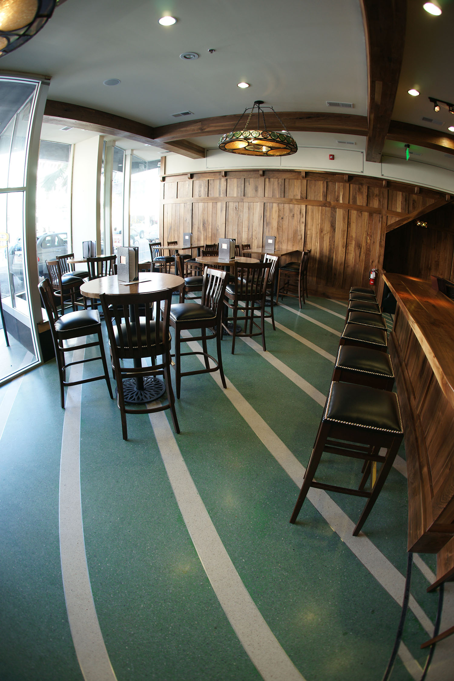 Green Terrazzo Floors at Stars Bar & Restaurant