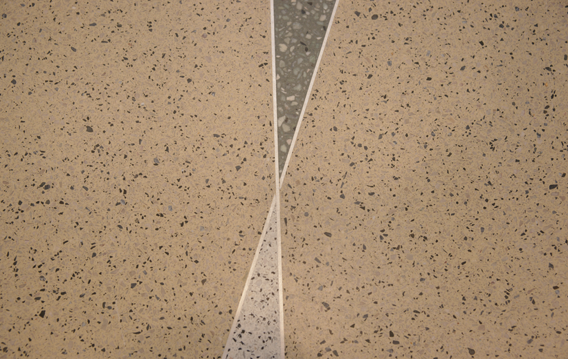 Terrazzo floor details at Halifax Deltona Health