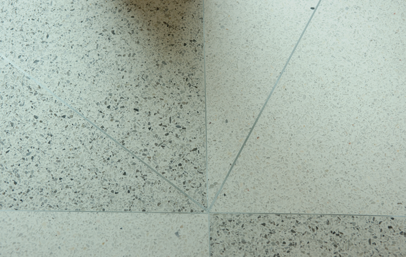 Terrazzo flooring details at Marion Performing Arts Center