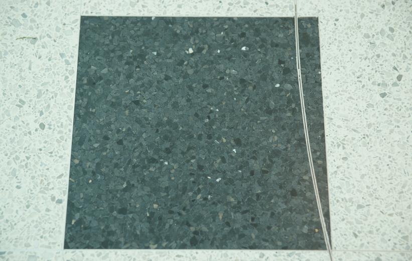 Black accent terrazzo squares