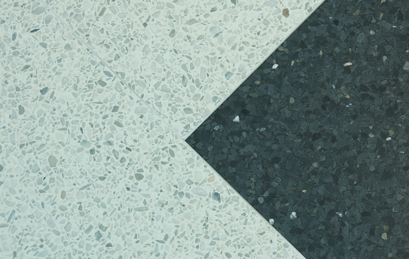 White and Black Terrazzo floor details at Richland County Main Library