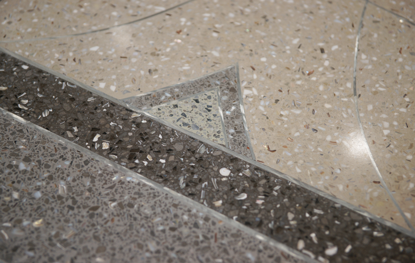 Terrazzo floor details at South Bay Hospital