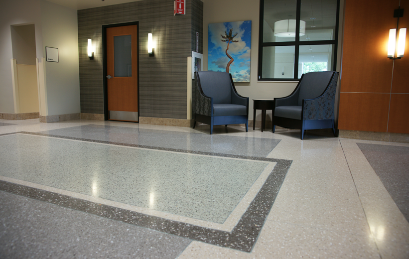 South Bay Hospital Terrazzo Floor Design in Florida