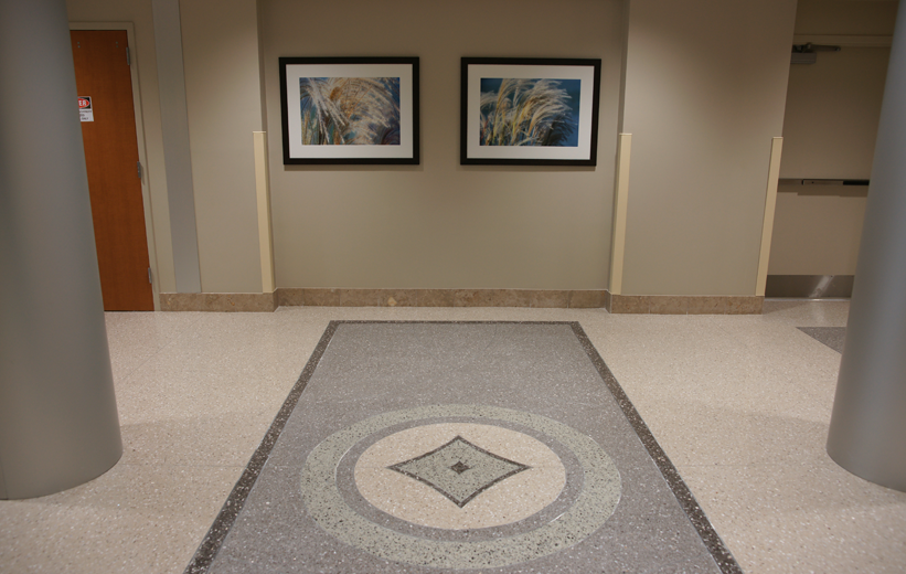 South Bay Hospital Terrazzo Floor Design