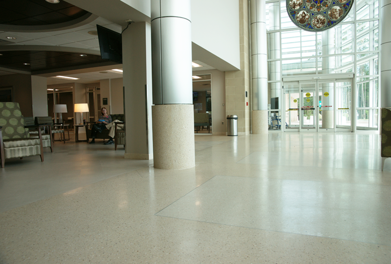 St. Joseph's Hospital Epoxy Terrazzo Flooring Installation
