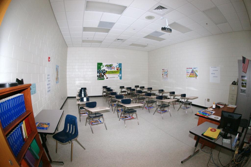 Jane Macon Middle School Classroom with Terrazzo Flooring