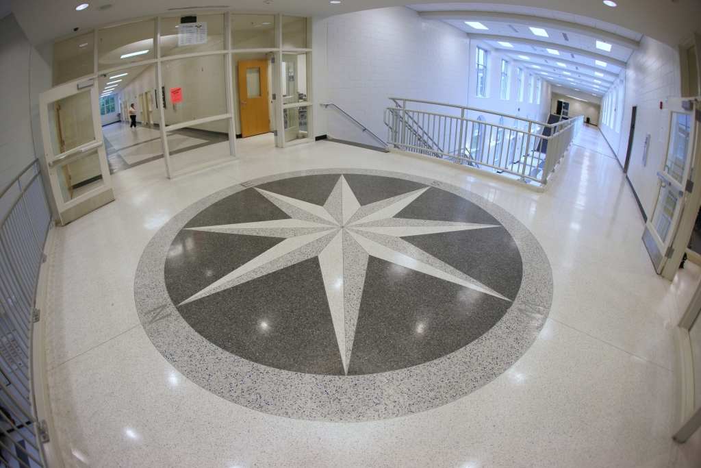 Jane Macon Middle School Terrazzo Compass