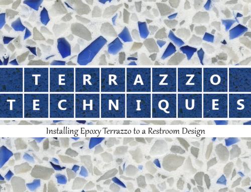 Terrazzo Techniques: Installing Epoxy Terrazzo in Restrooms