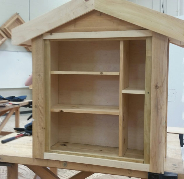 Company News: Summer camp designed and built 3 small libraries to be installed by CMPD around Charlotte, NC