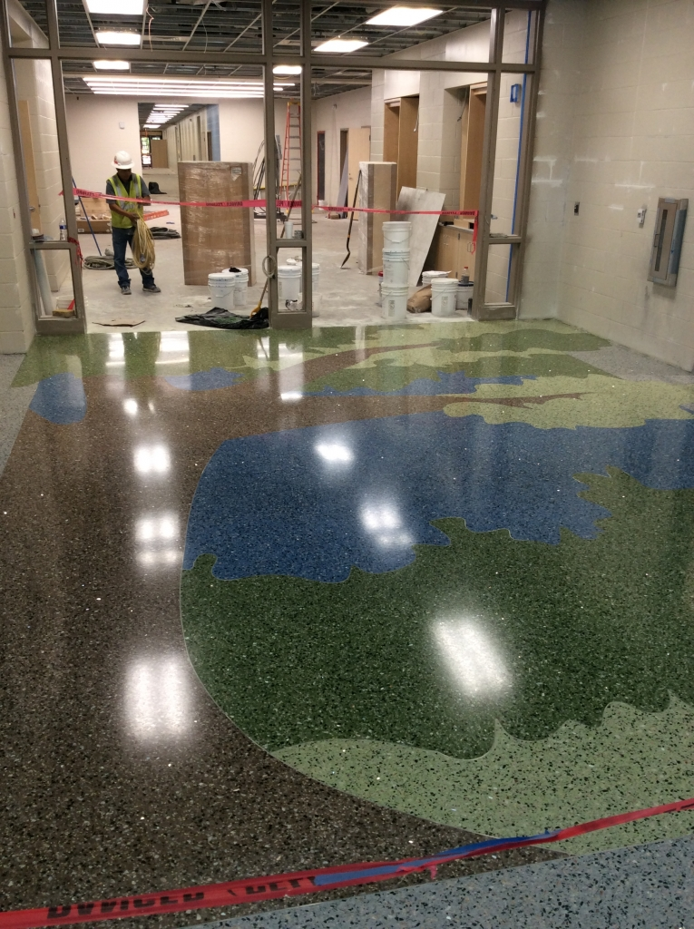 Terrazzo Floor after polished and sealed