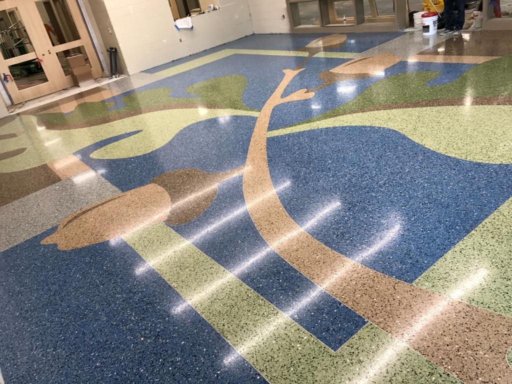 Completed Epoxy Terrazzo Floor