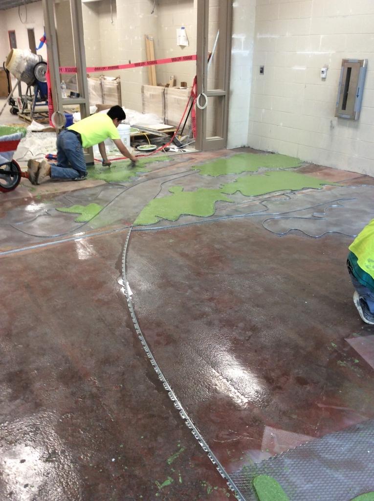 Installing A Terrazzo Design Carolina Park Elementary School