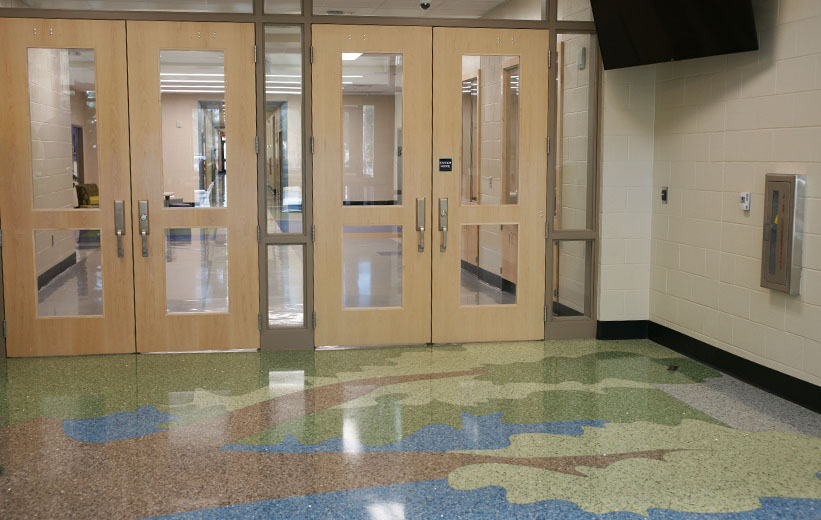 Terrazzo projects carolina park elementary school mt - Pleasant garden elementary school ...