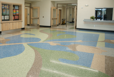 Carolina Park Elementary School Terrazzo Flooring