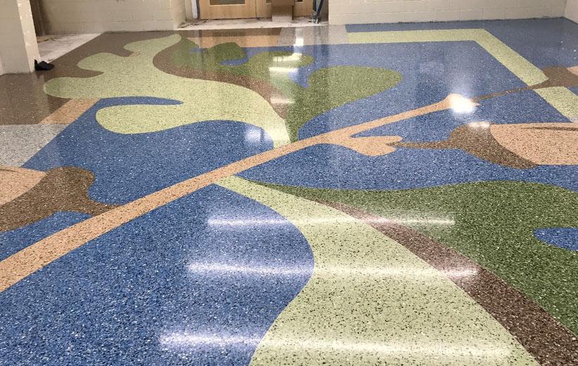 Terrazzo Floor Design at Carolina Park Elementary School