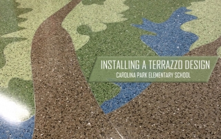 Installing a Terrazzo Design: Carolina Park Elementary School