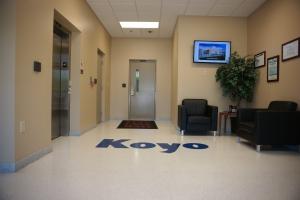 Koyo Terrazzo Logo lobby area