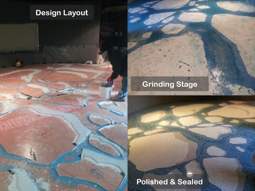 Installing Terrazzo at North Carolina Zoo - Polar Bears Exhibit