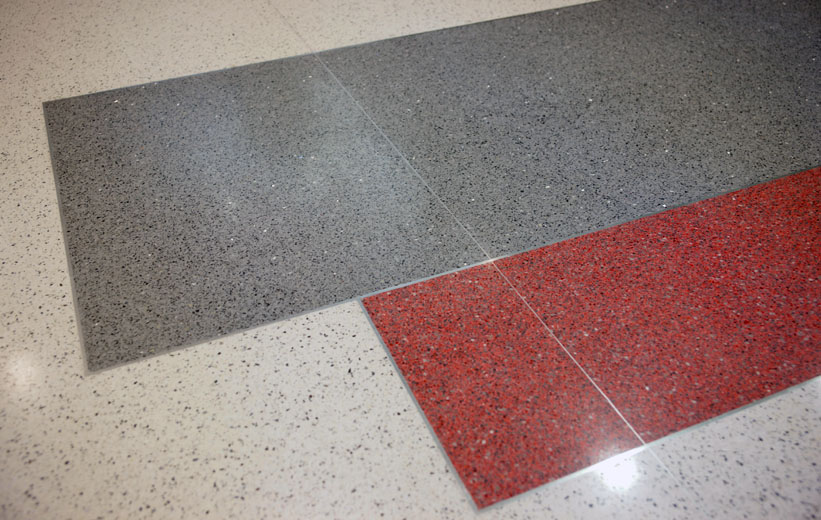Terrazzo floor details at the Center for Advanced Studies at Wando