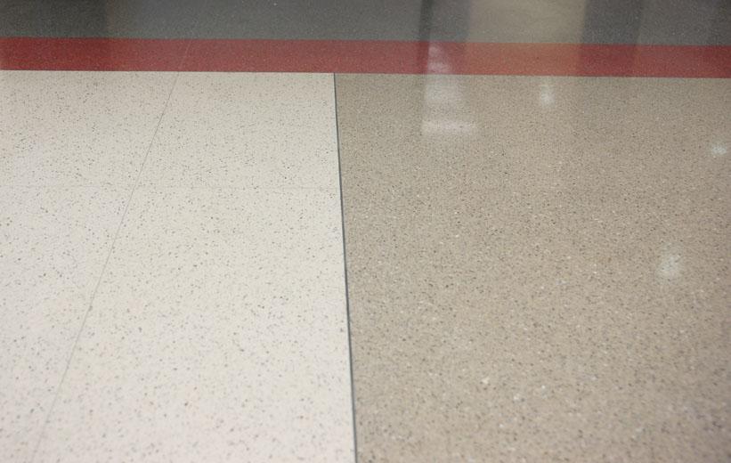 Epoxy terrazzo flooring installation