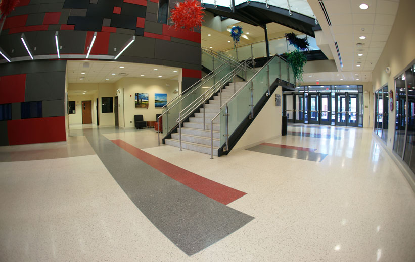 Center for Advanced Studies at Wando Terrazzo Flooring Project