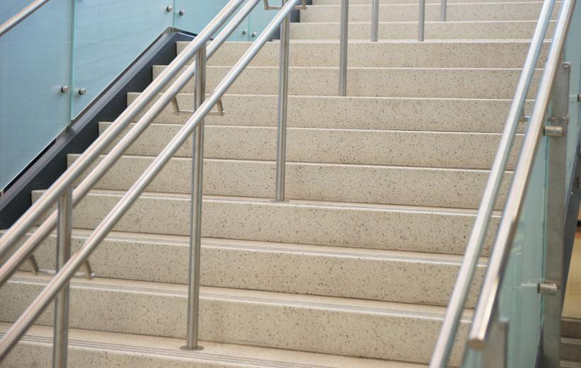 Precast terrazzo stairs at Wando