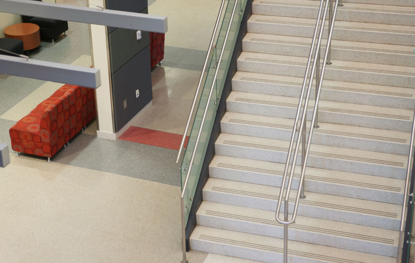 Precast Terrazzo Stair Design at the Center for Advanced Studies at Wando