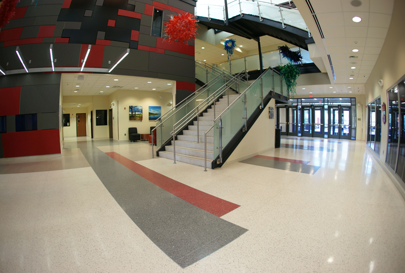 Center for Advanced Studies at Wando Terrazzo Flooring