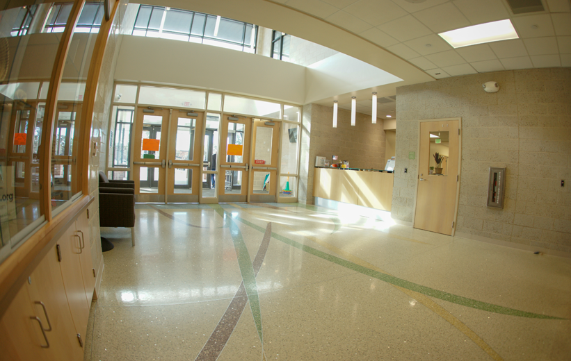 Jennie Moore Elementary School Terrazzo Flooring in Main Entrance