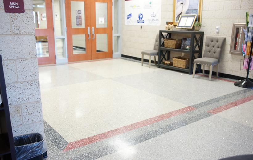 Laing Middle School Terrazzo Flooring