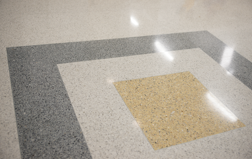 Terrazzo Floor at Spencer Elementary School