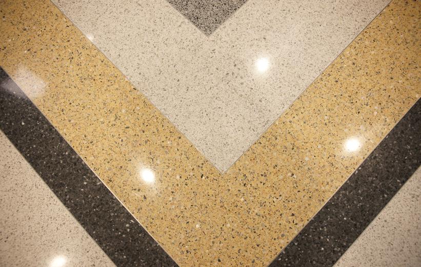 Spencer Elementary School Terrazzo Floor Details