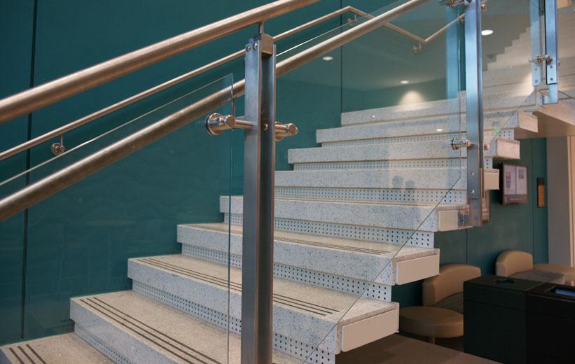 Terrazzo stairs at Coastal Carolina University