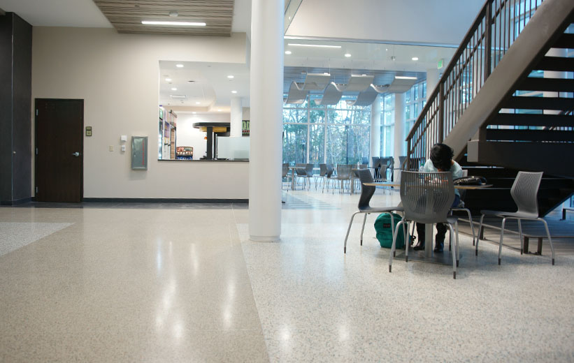 Coastal Carolina University Academic Building with epoxy terrazzo flooring