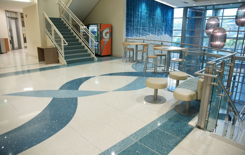 Terrazzo floor design at Coastal Carolina University