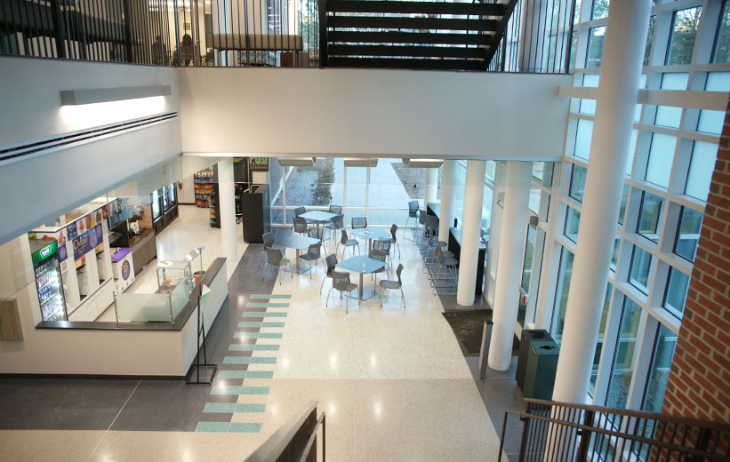 Epoxy terrazzo flooring at Coastal Carolina University