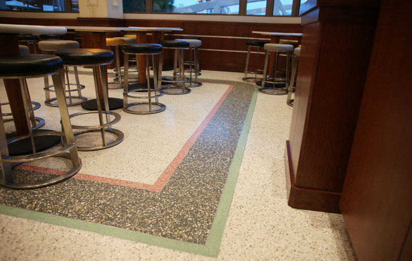 Cement Terrazzo Installation - West Virginia