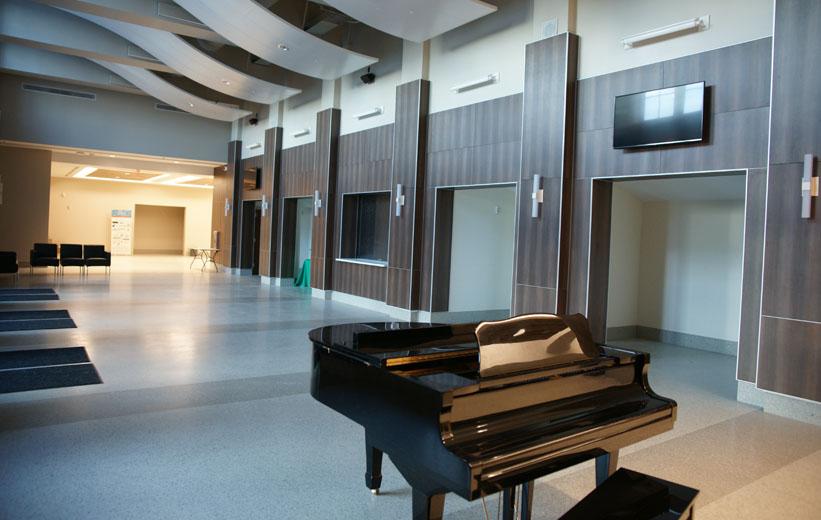 Garrison School of the Arts Terrazzo Flooring in School Lobby