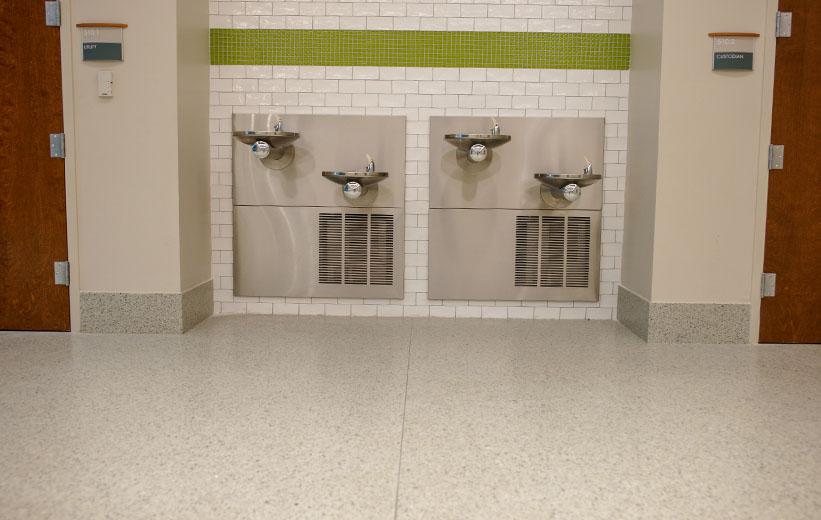 Terrazzo near restroom area at Garrison School of the Arts