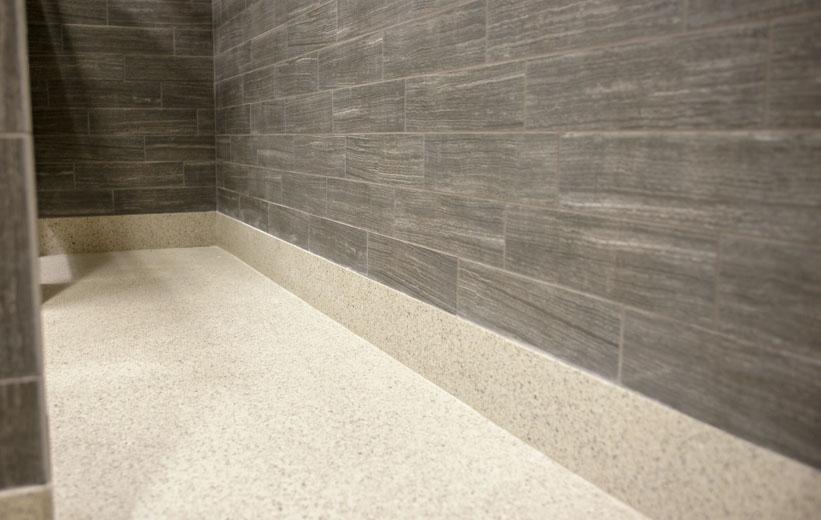 Terrazzo floor base