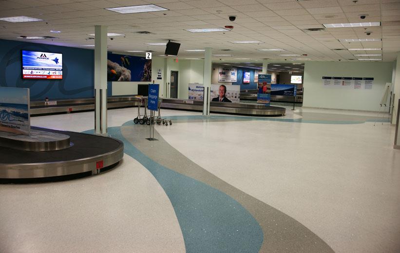 Airport terrazzo flooring